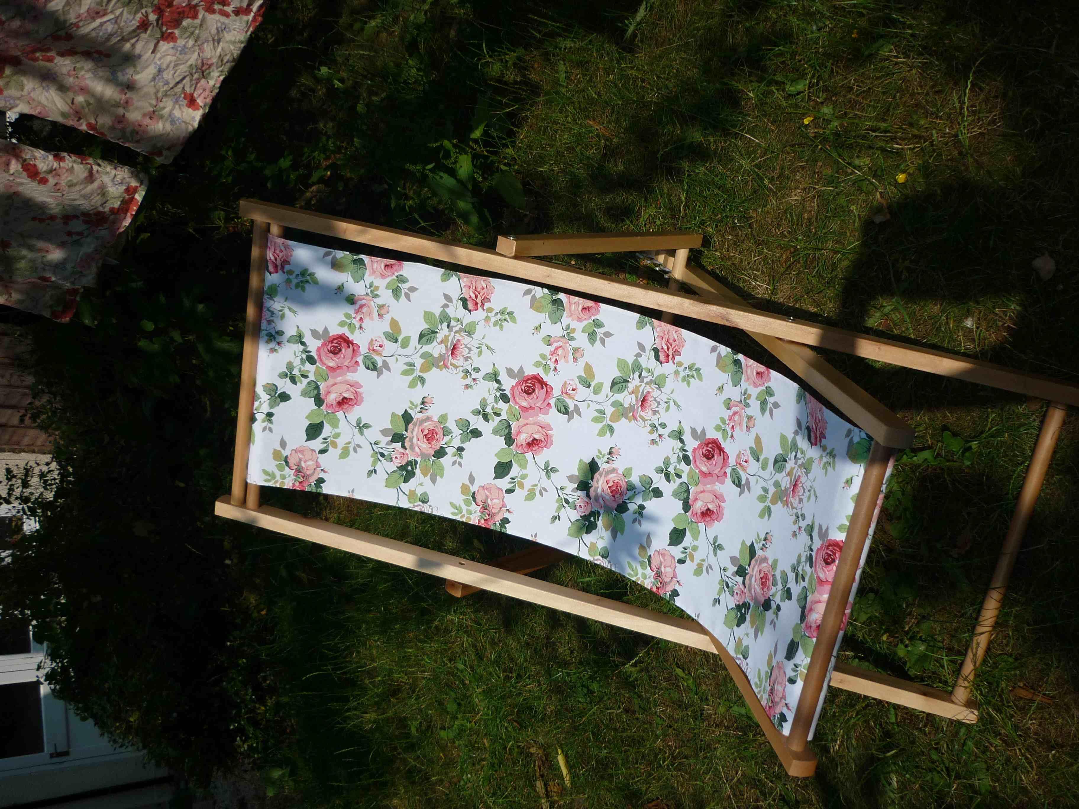 Charmant Floral Deck Chair