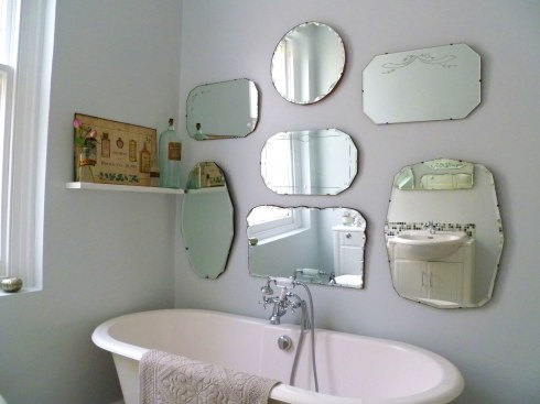 Vintage mirror display