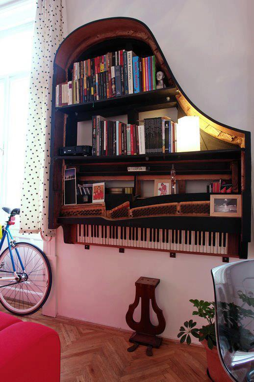 Piano shelves