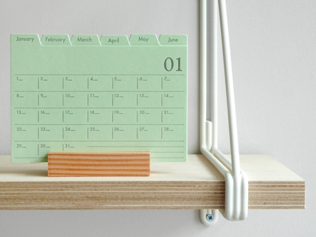 Index card calendar