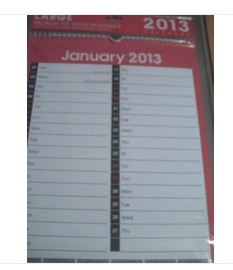 Post office calendar