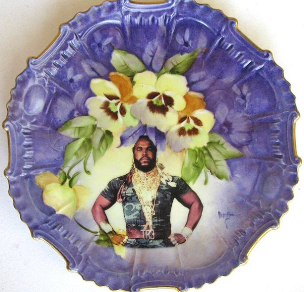Angela Rossi | Beat up Creations | Mr T plate
