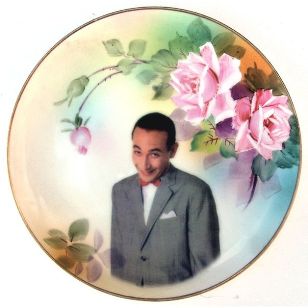 Angela Rossi | Beat Up Creations | Pee Wee Herman plate