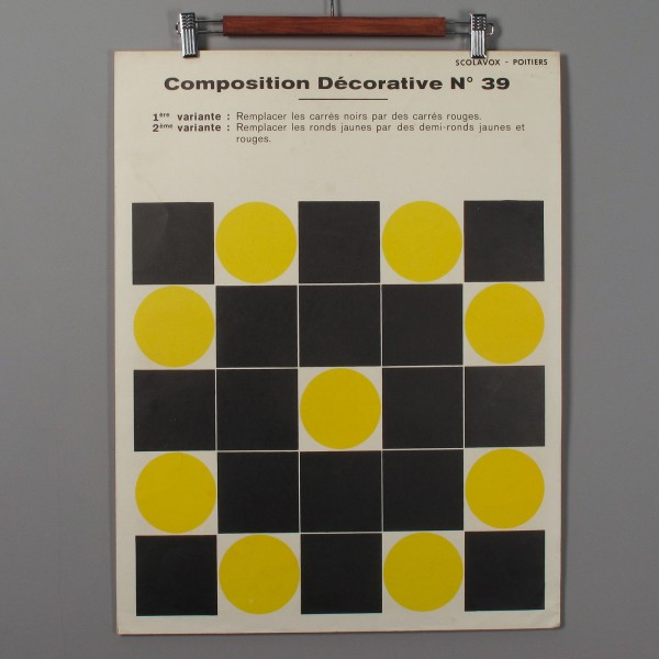 Vintage French Shool composition poster